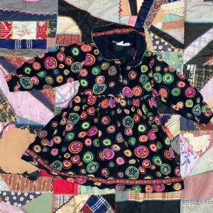 Vintage Kids Corduroy Swirl Corduroy Dress